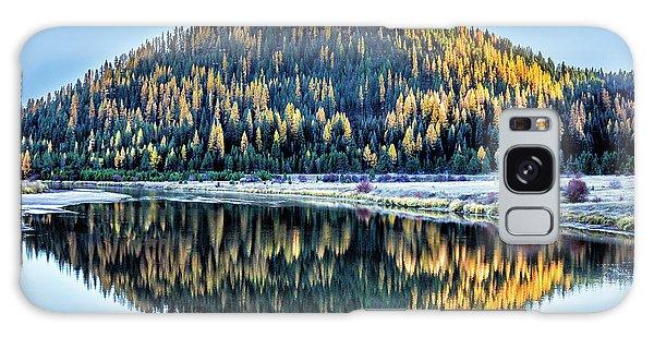Tamarack Glow Idaho Landscape Art By Kaylyn Franks Galaxy Case