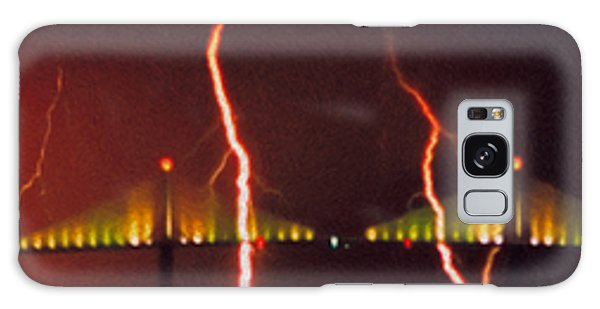 Tampa Bay Lightning Over The Skyway Bridge Galaxy Case