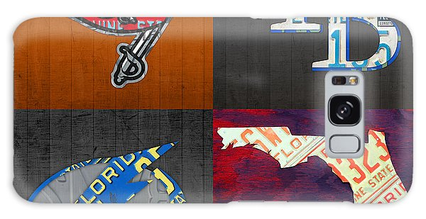 Recycle Galaxy Case - Tampa Bay Sports Fan Recycled Vintage Florida License Plate Art Bucs Rays Lightning Plus State Map by Design Turnpike