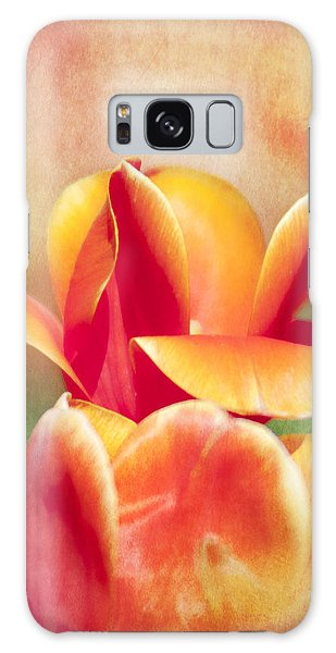 Tangerine Tulip Sorbet Galaxy Case