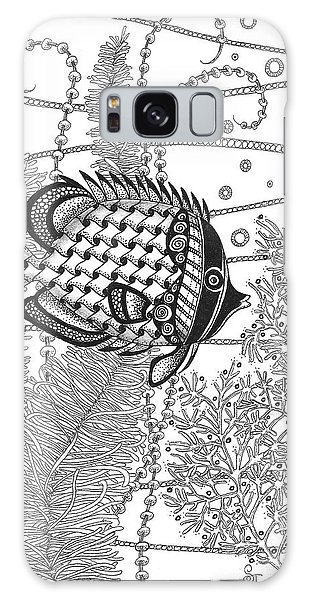 Tangle Fish II Galaxy Case by Stephanie Troxell