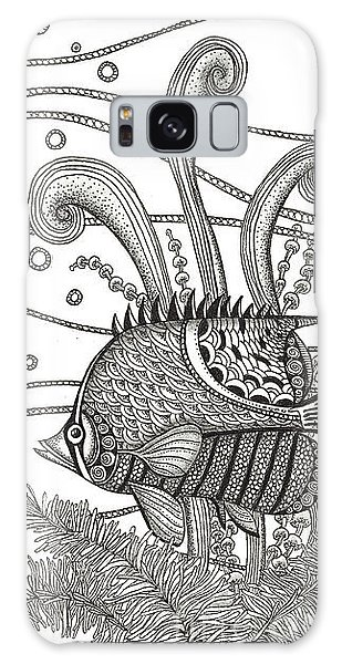 Tangle Fish Galaxy Case by Stephanie Troxell