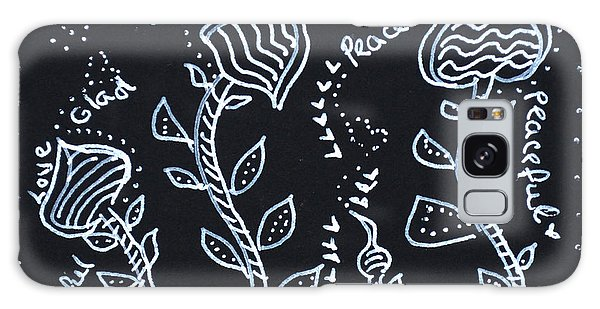 Tangle Flowers Galaxy Case