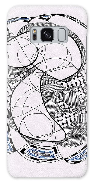 Tangle Monster Drawing Galaxy Case