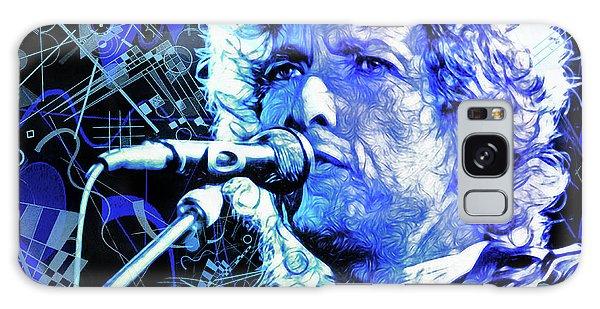 Folk Singer Galaxy Case - Tangled Up In Blue, Bob Dylan by Mal Bray
