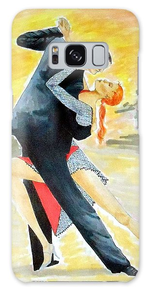 Tango Tangle -- Portrait Of 2 Tango Dancers Galaxy Case