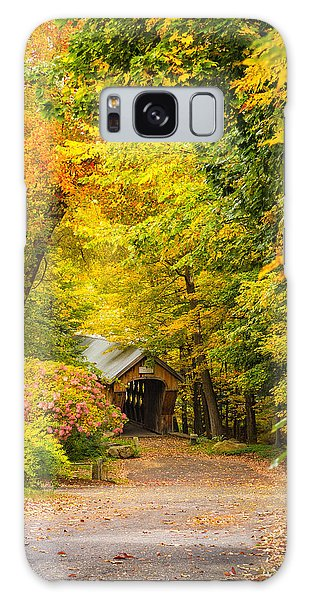 Tannery Hill Covered Bridge Galaxy Case
