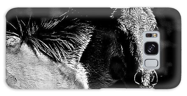 Taos Pony In B-w Galaxy Case
