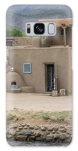Taos Pueblo Adobe House With Pots Galaxy Case