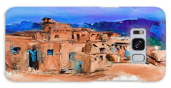 Taos Pueblo Village Galaxy Case by Elise Palmigiani