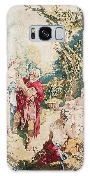 Tapestry Galaxy Case - Tapestry Showing Psyche And The Basketmaker by Francois Boucher