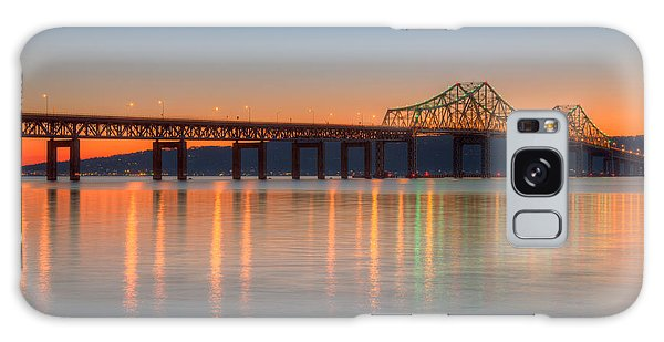 Tappan Zee Bridge After Sunset II Galaxy Case by Clarence Holmes
