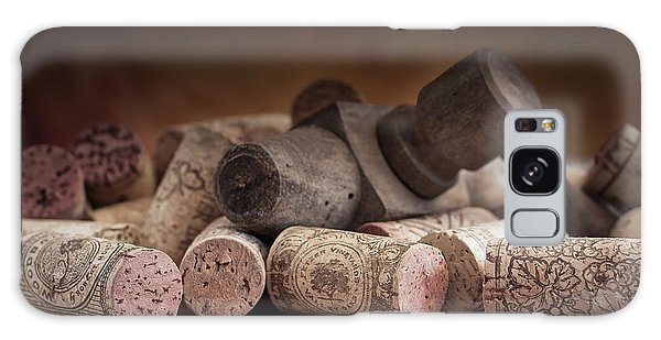 Antique Galaxy Case - Tapped Out - Wine Tap With Corks by Tom Mc Nemar