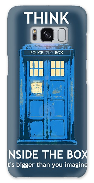Tardis - Think Inside The Box Galaxy Case by Richard Reeve