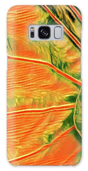 Taro Leaf In Orange - The Other Side Galaxy Case