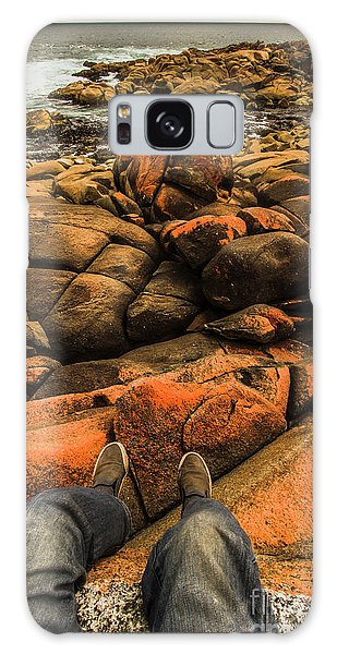 West Bay Galaxy Case - Tasmanian Tourist Kicking Back  by Jorgo Photography - Wall Art Gallery