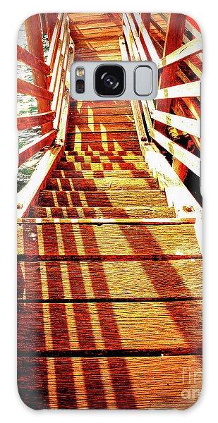 Tathra Wharf Stairs Galaxy Case by Lexa Harpell