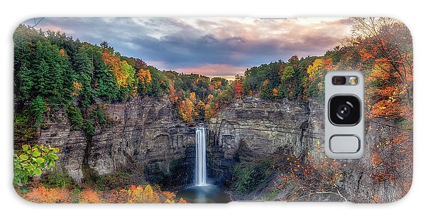 Taughannock Autumn Dusk Galaxy Case