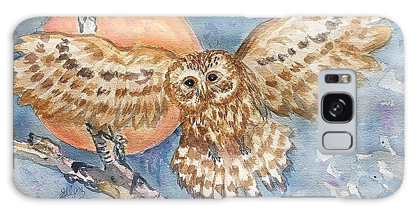 Tawny Owl And Hunters Moon  Galaxy Case