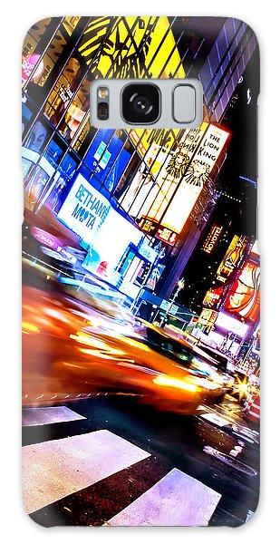 New York City Taxi Galaxy Case - Taxi Square by Az Jackson