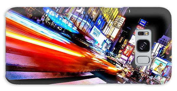 New York City Taxi Galaxy Case - Taxis In Times Square by Az Jackson