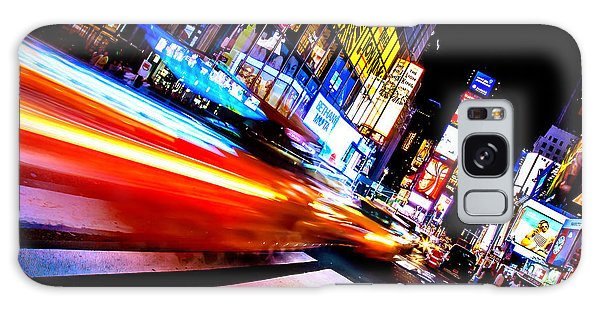Time Frame Galaxy Case - Taxis In Times Square by Az Jackson
