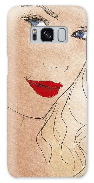 Taylor Red Lips Galaxy Case by Pablo Franchi
