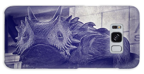 Galaxy Case featuring the photograph Tcu Horned Frog Purple by Joan Carroll