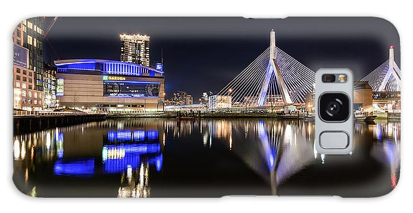 Td Garden And The Zakim Bridge At Night Galaxy Case