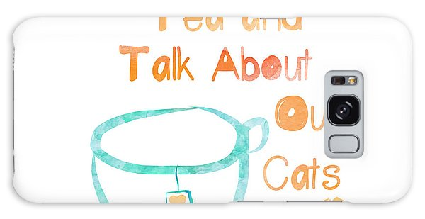 Tea And Cats Square Galaxy Case by Linda Woods