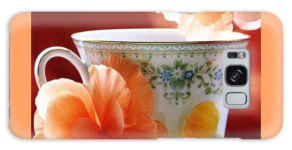 Tea In The Garden Galaxy Case by Angela Davies