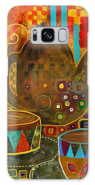 Tea Party With Klimt Galaxy Case