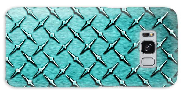 Fashion Plate Galaxy Case - Teal Diamond Plate  by Mark Moore