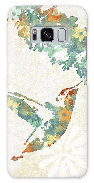 Floral Hummingbird Art Galaxy Case