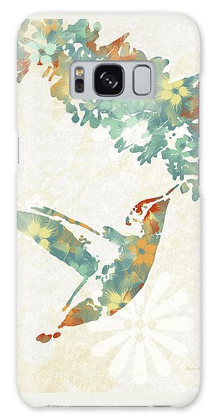 Floral Hummingbird Art Galaxy Case