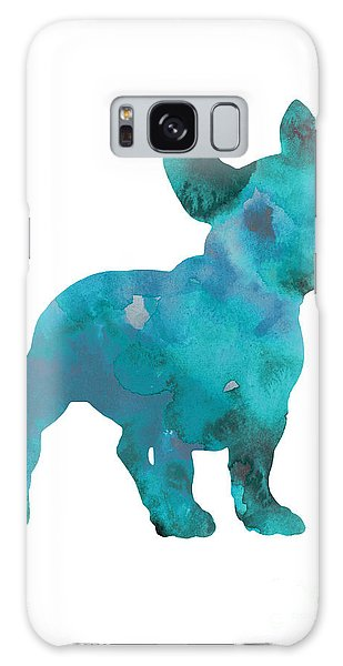Teal Frenchie Abstract Painting Galaxy Case by Joanna Szmerdt