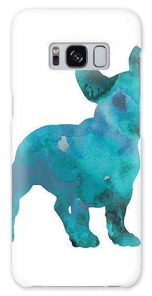 Dog Galaxy S8 Case - Teal Frenchie Abstract Painting by Joanna Szmerdt