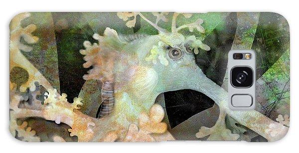 Teal Leafy Sea Dragon Galaxy Case