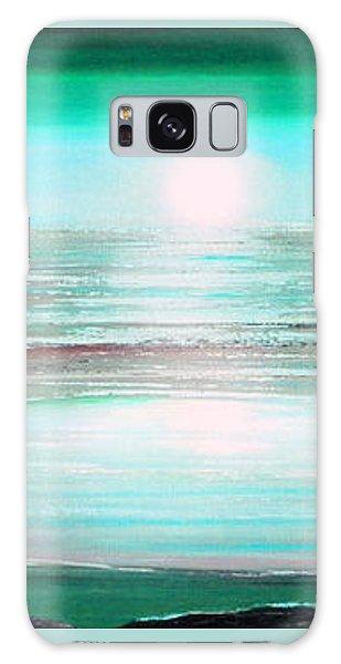 Teal Panoramic Sunset Galaxy Case