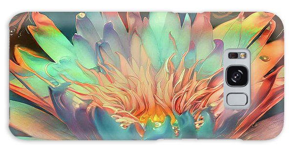 Teal Waterlilies 10 Galaxy Case