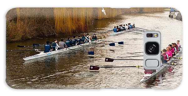 Teams Of Rowers On River Cam Galaxy Case