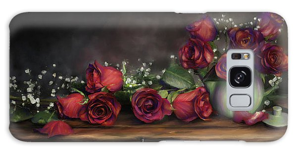 Teapot Roses Galaxy Case