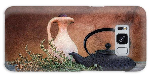 Herbs Galaxy Case - Teapot With Pitcher Still Life by Tom Mc Nemar