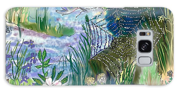 Teen Drawing -- Hummingbird Collecting Silk Galaxy Case
