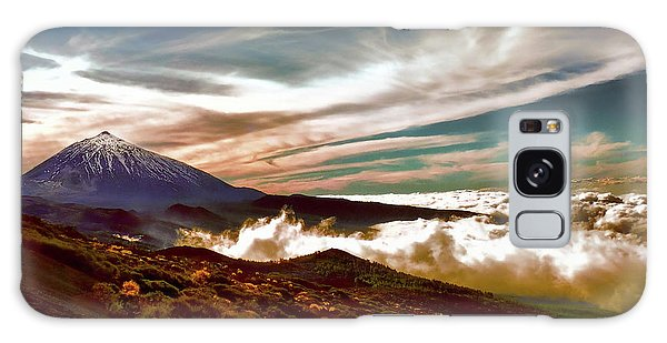 Teide Volcano - Rolling Sea Of Clouds At Sunset Galaxy Case
