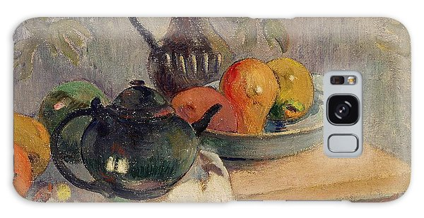 Teiera Brocca E Frutta Galaxy Case by Paul Gauguin