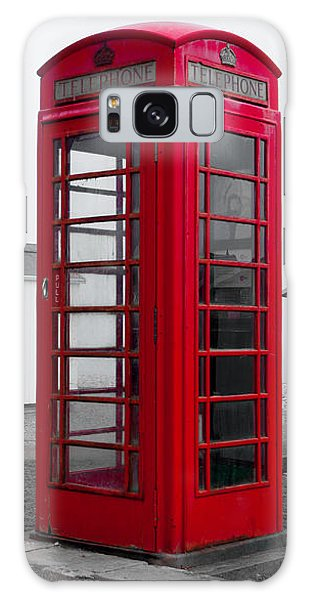 Telephone Box By The Sea I Galaxy Case