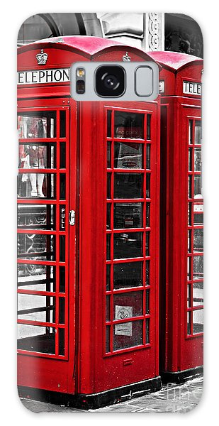 English Galaxy Case - Telephone Boxes In London by Elena Elisseeva