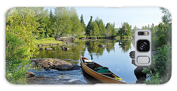 Temperance River Portage Galaxy Case by Larry Ricker