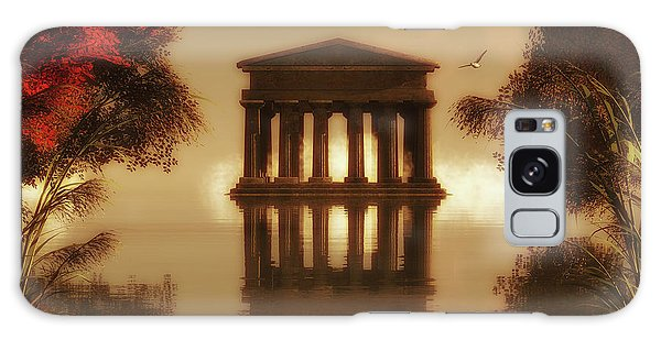 Temple In A Lake Galaxy Case